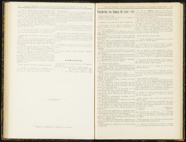 Raadsverslagen van de gemeente Leeuwarden, 1865-2007 (Notulen) 1898-10-25