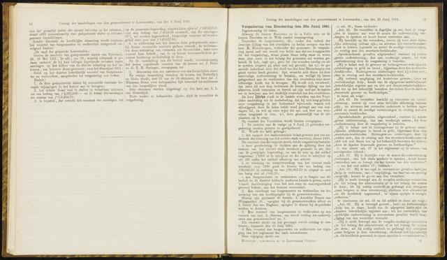 Raadsverslagen van de gemeente Leeuwarden, 1865-2007 (Notulen) 1881-06-23