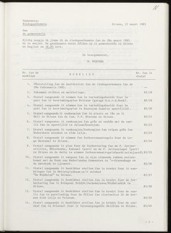 Notulen van de gemeenteraad van Leeuwarderadeel 1985-03-28