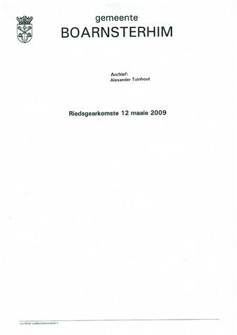 Boarnsterhim vergaderstukken gemeenteraad  2009-05-12