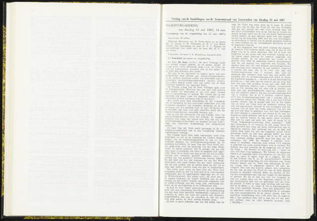 Raadsverslagen van de gemeente Leeuwarden, 1865-2007 (Notulen) 1967-05-23