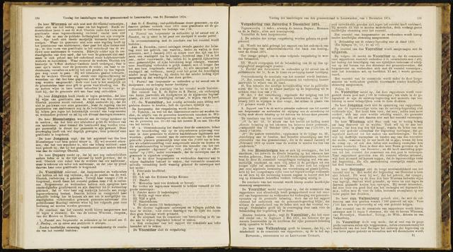 Raadsverslagen van de gemeente Leeuwarden, 1865-2007 (Notulen) 1874-12-05