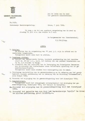 raadsverslagen Idaarderadeel 1935-1983 1964-07-14