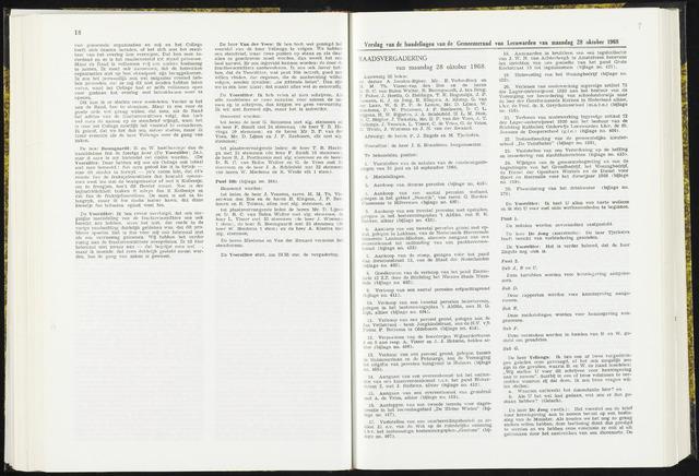 Raadsverslagen van de gemeente Leeuwarden, 1865-2007 (Notulen) 1968-10-28