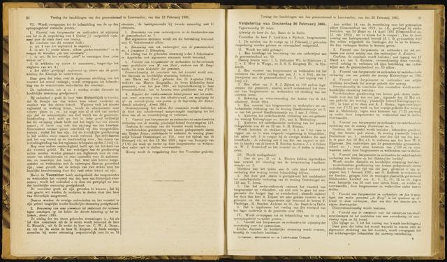 Raadsverslagen van de gemeente Leeuwarden, 1865-2007 (Notulen) 1885-02-26