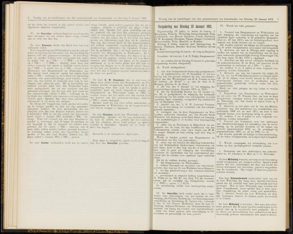 Raadsverslagen van de gemeente Leeuwarden, 1865-2007 (Notulen) 1912-01-23