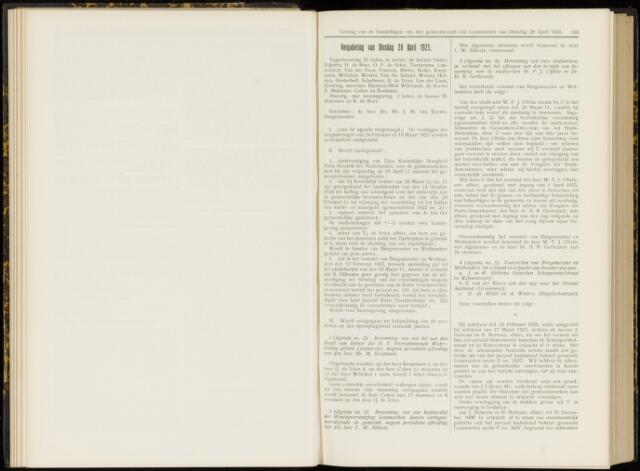 Raadsverslagen van de gemeente Leeuwarden, 1865-2007 (Notulen) 1925-04-28