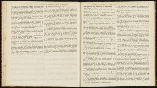 Raadsverslagen van de gemeente Leeuwarden, 1865-2007 (Notulen) 1880-03-25