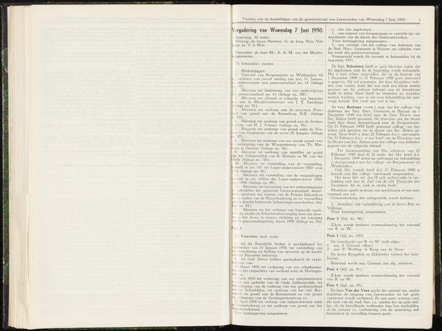 Raadsverslagen van de gemeente Leeuwarden, 1865-2007 (Notulen) 1950-06-07