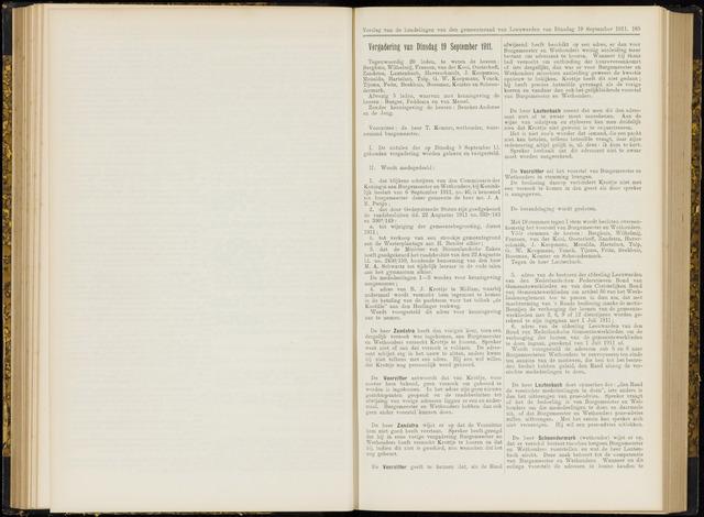 Raadsverslagen van de gemeente Leeuwarden, 1865-2007 (Notulen) 1911-09-19