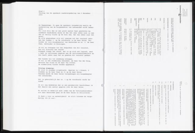 Raadsverslagen van de gemeente Leeuwarden, 1865-2007 (Notulen) 2003-12-15