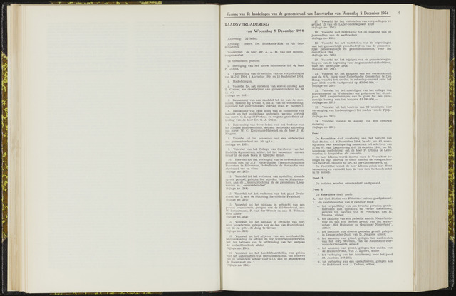 Raadsverslagen van de gemeente Leeuwarden, 1865-2007 (Notulen) 1954-12-08