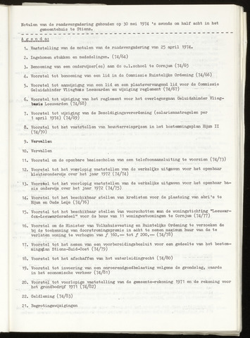 Notulen van de gemeenteraad van Leeuwarderadeel 1974-05-30