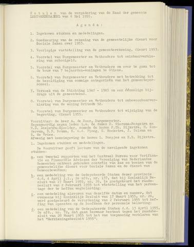 Notulen van de gemeenteraad van Leeuwarderadeel 1955-05-06