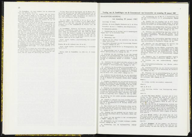 Raadsverslagen van de gemeente Leeuwarden, 1865-2007 (Notulen) 1967-01-30