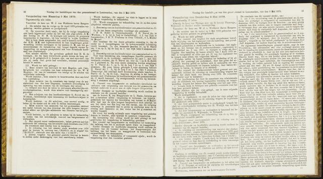 Raadsverslagen van de gemeente Leeuwarden, 1865-2007 (Notulen) 1879-05-05