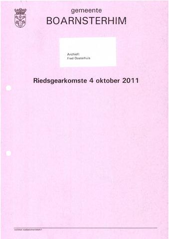 Boarnsterhim vergaderstukken gemeenteraad  2011-10-04