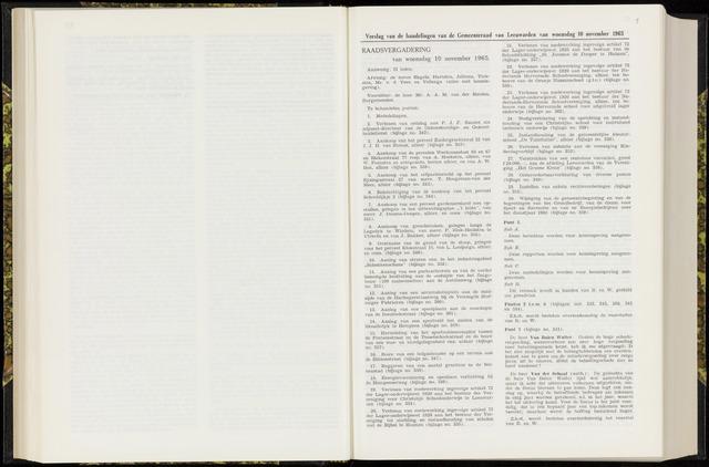 Raadsverslagen van de gemeente Leeuwarden, 1865-2007 (Notulen) 1965-11-10