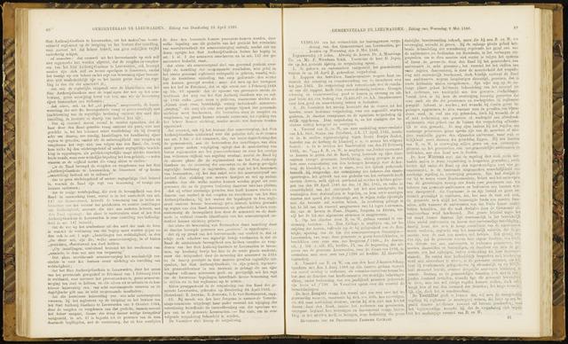 Raadsverslagen van de gemeente Leeuwarden, 1865-2007 (Notulen) 1866-05-09