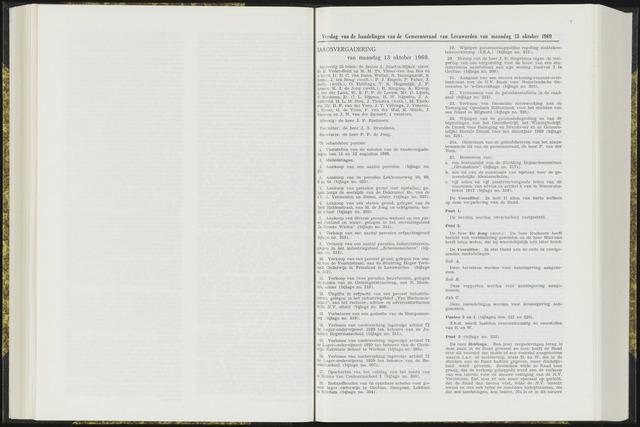 Raadsverslagen van de gemeente Leeuwarden, 1865-2007 (Notulen) 1969-10-13