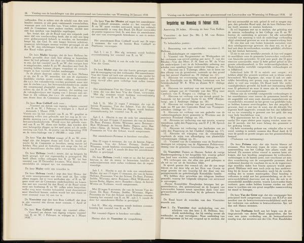 Raadsverslagen van de gemeente Leeuwarden, 1865-2007 (Notulen) 1938-02-16