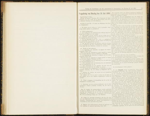 Raadsverslagen van de gemeente Leeuwarden, 1865-2007 (Notulen) 1896-07-21