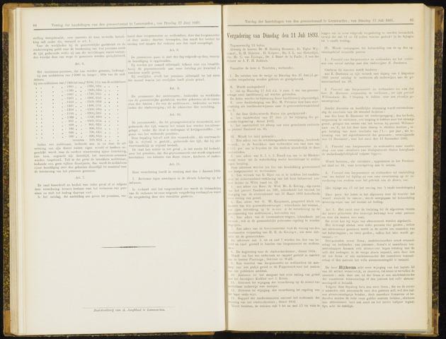 Raadsverslagen van de gemeente Leeuwarden, 1865-2007 (Notulen) 1893-07-11