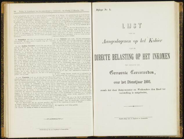 Raadsverslagen van de gemeente Leeuwarden, 1865-2007 (Bijlagen) 1893-01-01