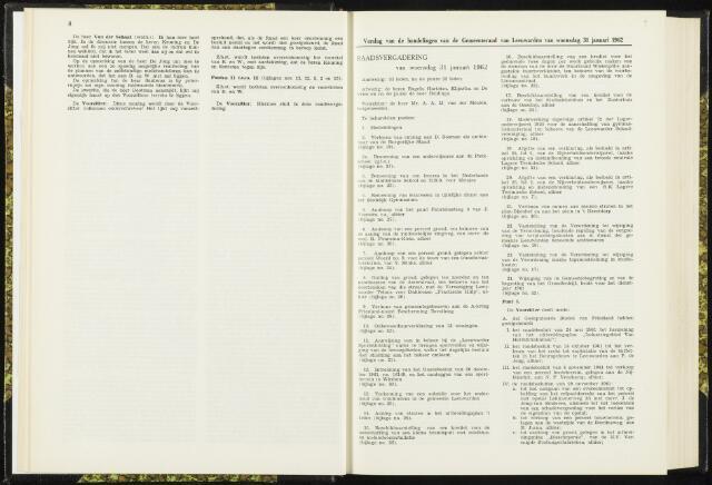 Raadsverslagen van de gemeente Leeuwarden, 1865-2007 (Notulen) 1962-01-31
