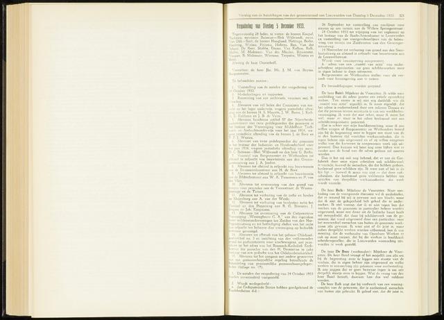 Raadsverslagen van de gemeente Leeuwarden, 1865-2007 (Notulen) 1933-12-05