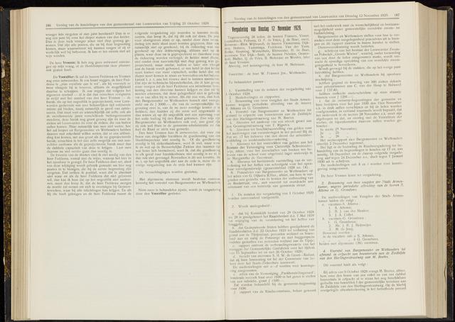 Raadsverslagen van de gemeente Leeuwarden, 1865-2007 (Notulen) 1929-11-12