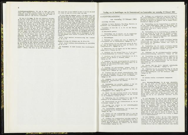 Raadsverslagen van de gemeente Leeuwarden, 1865-2007 (Notulen) 1963-02-13