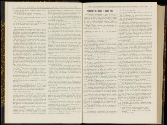 Raadsverslagen van de gemeente Leeuwarden, 1865-2007 (Notulen) 1928-01-31