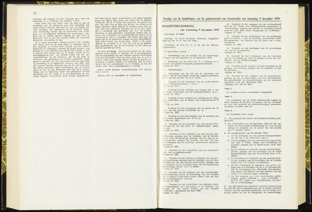 Raadsverslagen van de gemeente Leeuwarden, 1865-2007 (Notulen) 1959-12-09