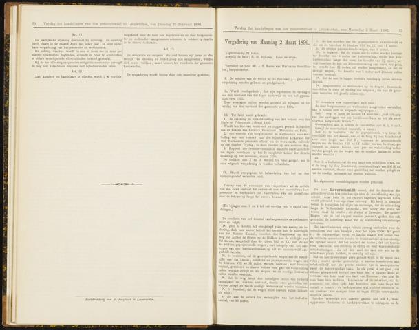 Raadsverslagen van de gemeente Leeuwarden, 1865-2007 (Notulen) 1896-03-02