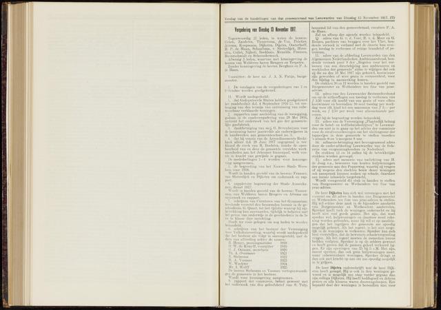 Raadsverslagen van de gemeente Leeuwarden, 1865-2007 (Notulen) 1917-11-13
