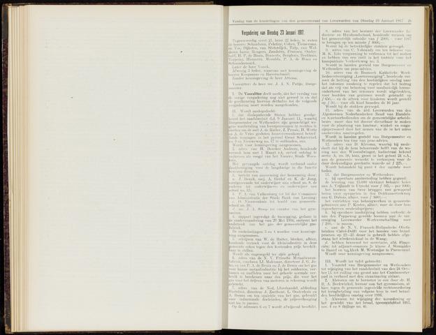 Raadsverslagen van de gemeente Leeuwarden, 1865-2007 (Notulen) 1917-01-23