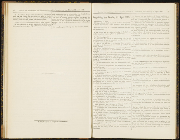 Raadsverslagen van de gemeente Leeuwarden, 1865-2007 (Notulen) 1896-04-28