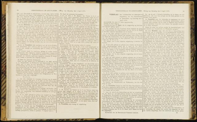 Raadsverslagen van de gemeente Leeuwarden, 1865-2007 (Notulen) 1870-04-09