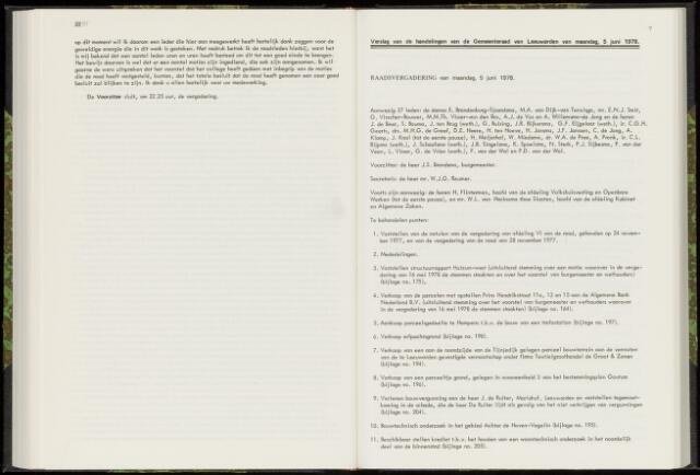 Raadsverslagen van de gemeente Leeuwarden, 1865-2007 (Notulen) 1978-06-05