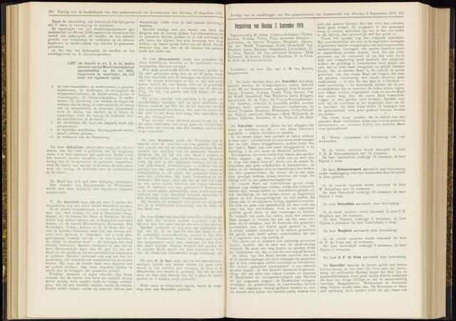 Raadsverslagen van de gemeente Leeuwarden, 1865-2007 (Notulen) 1919-09-02