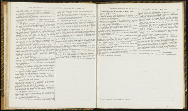 Raadsverslagen van de gemeente Leeuwarden, 1865-2007 (Notulen) 1882-04-19
