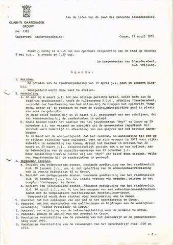 raadsverslagen Idaarderadeel 1935-1983 1973-05-08