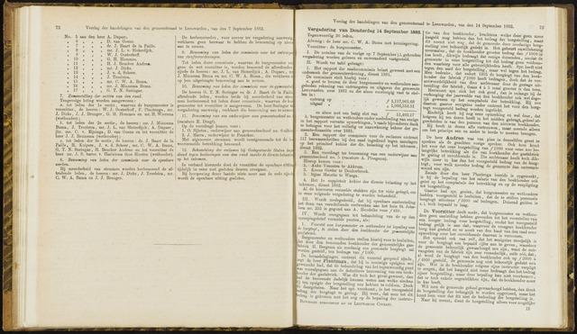 Raadsverslagen van de gemeente Leeuwarden, 1865-2007 (Notulen) 1882-09-14