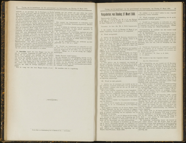 Raadsverslagen van de gemeente Leeuwarden, 1865-2007 (Notulen) 1900-03-27