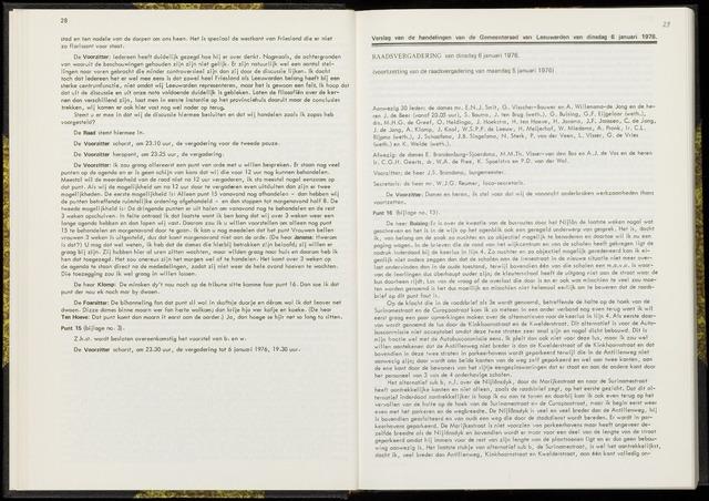 Raadsverslagen van de gemeente Leeuwarden, 1865-2007 (Notulen) 1976-01-06