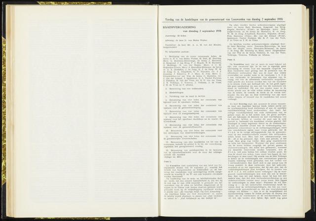 Raadsverslagen van de gemeente Leeuwarden, 1865-2007 (Notulen) 1958-09-02