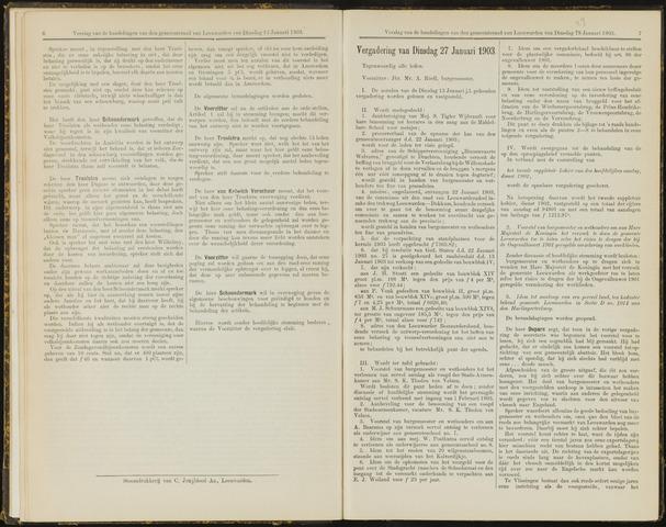 Raadsverslagen van de gemeente Leeuwarden, 1865-2007 (Notulen) 1903-01-27