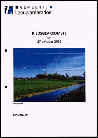 Notulen van de gemeenteraad van Leeuwarderadeel 2016-10-27