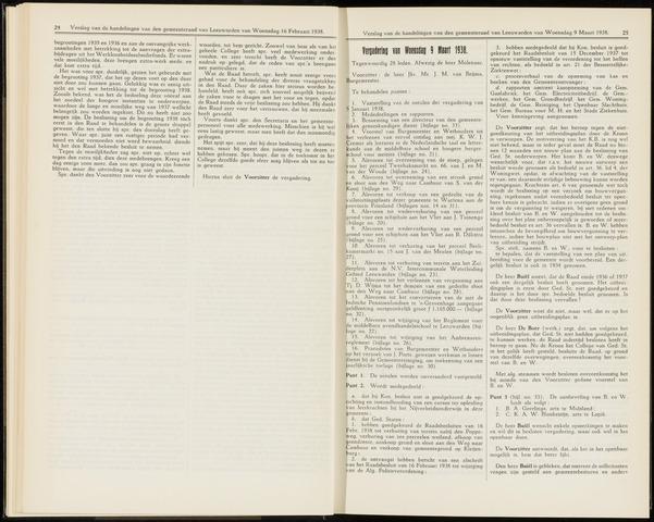 Raadsverslagen van de gemeente Leeuwarden, 1865-2007 (Notulen) 1938-03-09